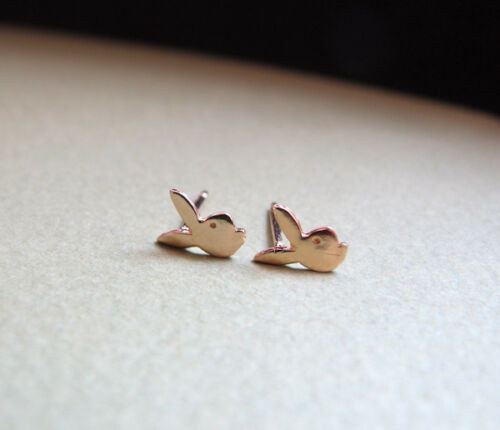 post Boucles d/'oreilles ARGENT STERLING Rabbit Head Rivets Bunny Rabbit Clous d/'oreilles