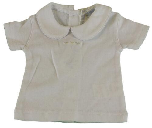 JACADI Girl/'s Bibero White Cotton Undershirt Size 6 Months $18 NWT