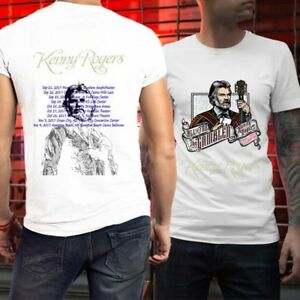 448e0bb7 All in for the gambler Kenny Rogers Final Tour T-Shirt 2 Sides New ...