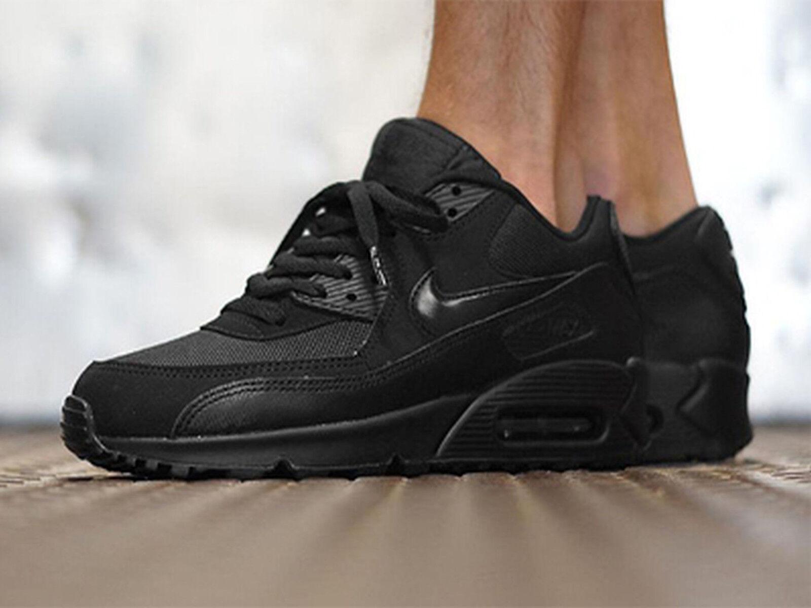 Nike air max 90 essenziale Uomo sz 13 537384-092 nero / nero / nero correre
