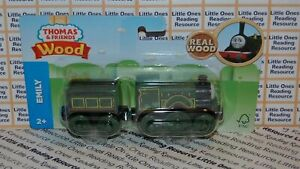 Thomas-Friends-Wood-Wooden-EMILY-Train-FULLY-PAINTED-Fisher-Price-GGG47