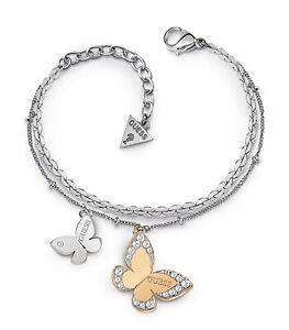 Guess-UBB78056-Damen-Armband-zweifarbig-Kristall-neu