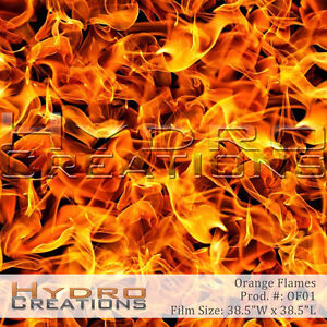 Details about HYDROGRAPHIC FILM FOR HYDRO DIPPING WATER TRANSFER FILM  ORANGE FLAMES