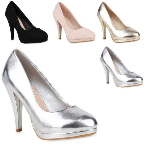 Damen Abiball Pumps High Heels Stiletto Hochzeit Basic Abendschuhe 820116 Mode