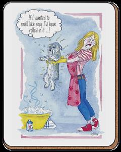 Schnauzer Dog Lovers boissons Coaster Tasse Tapis Alisons Animals Cadeau Stocking Filler