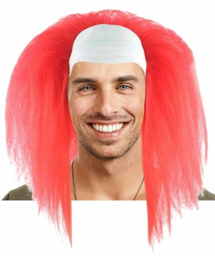 Scary Bald Red Clown Short Afro Wig Halloween Party Cosplay Fancy Dress HM-613