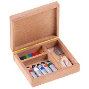 1-12-Dollhouse-Paint-Box-Mini-Painting-Box-Pigment-Sticks-DIY-BX