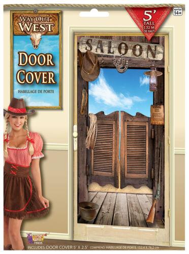 Way Out West Porte-Couverture Cowboy Fête Décoration Wild West Fête Décoration