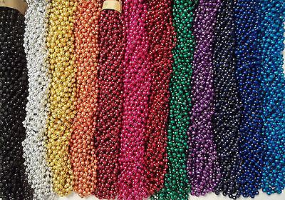 "500 Promo Items Mardi Gras Gra Beads Necklaces Party Favors Case Lot 33"" 7mm"