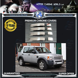 FITS-TO-LANDROVER-DISCOVERY-3-CHROME-DOOR-HANDLE-COVERS-5yr-GUARANTEE-04-09-NEW
