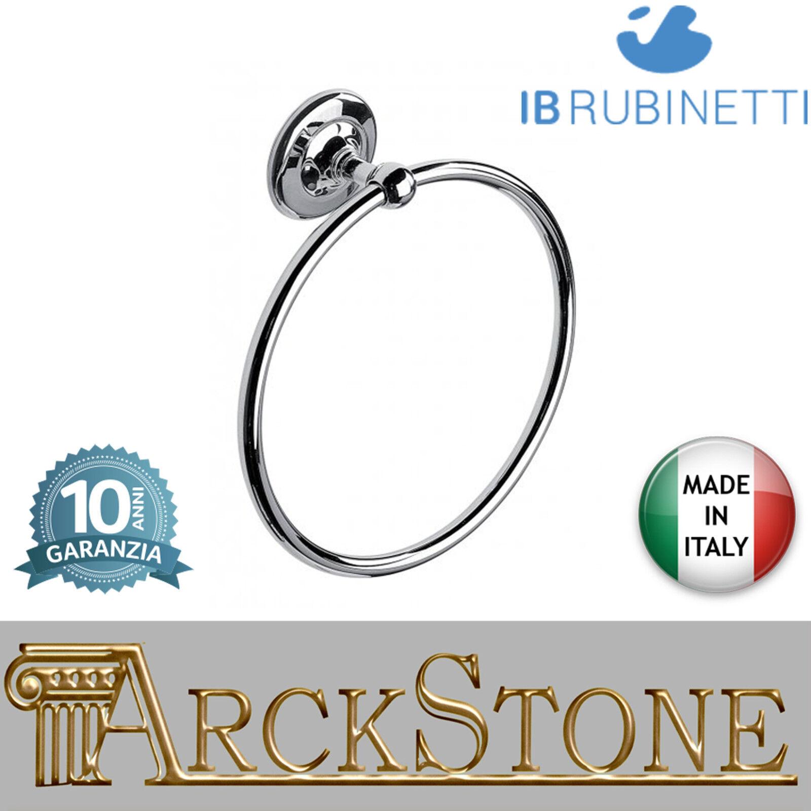 Tür asciugamano anello parete in ottone cromato IB Rubinetti Hermes accessori