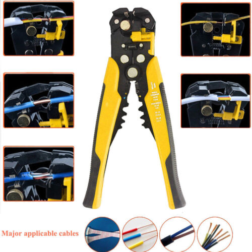 Pro Cable Wire Stripper Cutter Crimper Multipurpose Electrician Or DIY Hand Tool