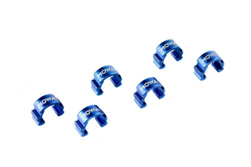 MOWA C-Clip Road Mountain CX Bicycle Bike Cable Housing Hose Guide 6pcs Blue