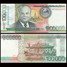 Laos 100000 100,000 Kip , 2011 , P-42, UNC