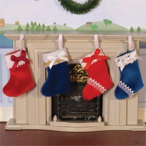 12A scala Lusso Calze di Natale per casa bambole