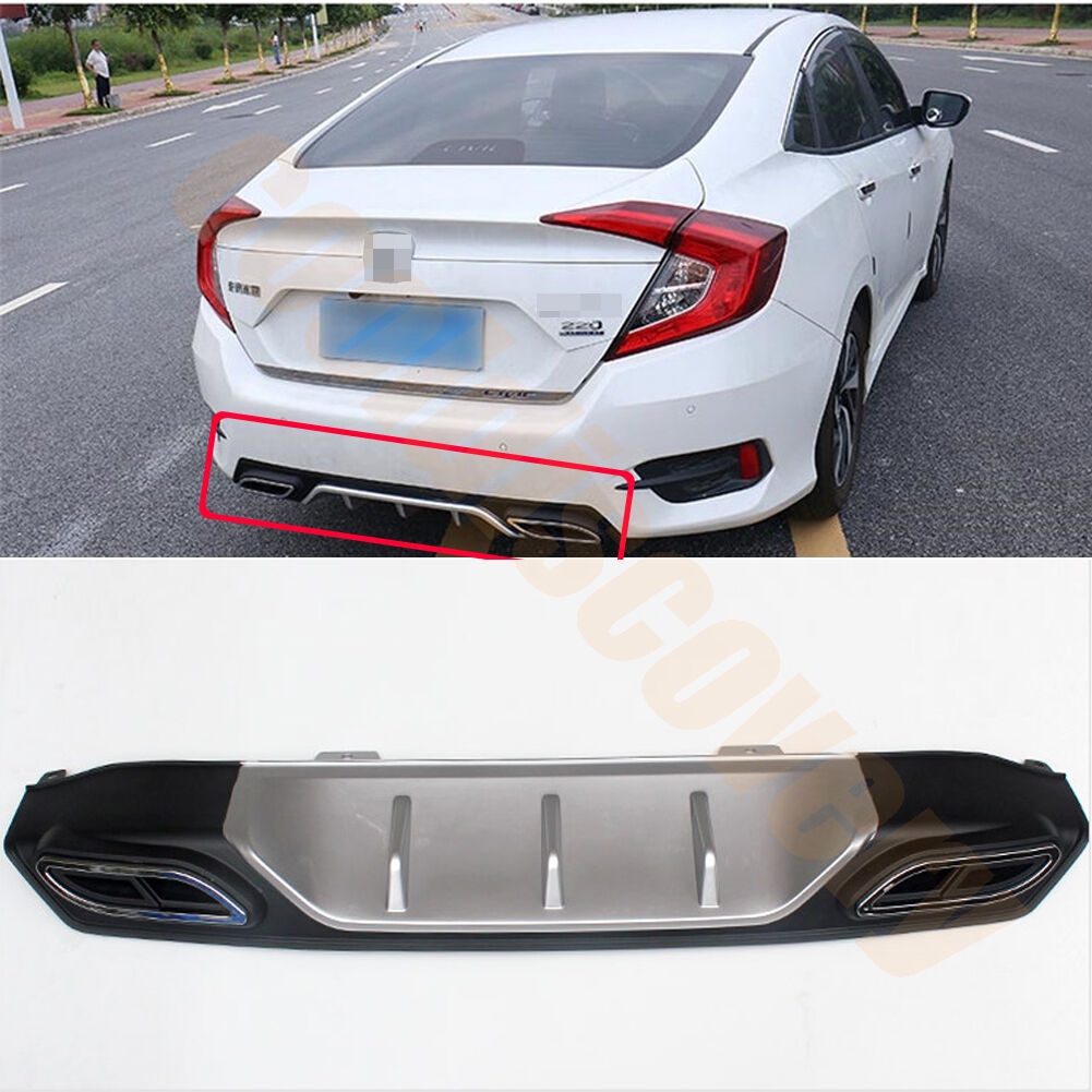 Rear bumper diffuser double decorative exhaust tip for for Where are honda civics made