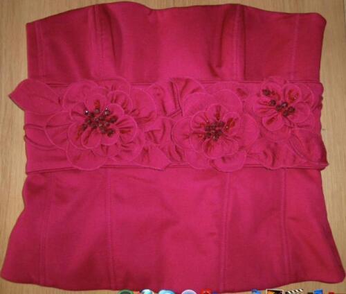 Red Millen Bustier Karen Applique 10 Belt Size Uk 7gvax