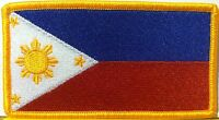 Philippines Flag Patch With Velcro® Brand Fastener Military Emblem 12