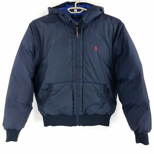 Ralph Lauren Polo Blue Hooded Down Filled Puffer Jacket ...