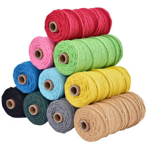 3mm-100m-Craft-Braided-Macrame-Rope-Cord-String-Cotton-Twisted-DIY-Thread-Supply