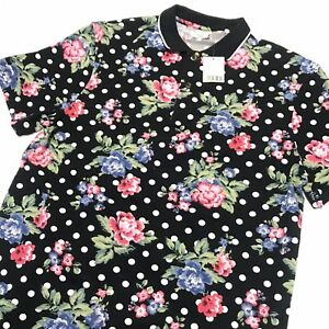 1cb0a48a8b Urban Outfitters Polo Shirt Pique Floral Polka Dot Size Medium NWT ...