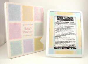 """Baby Pastel 4"""" * 6"""" SHOWBOX PHOTO VIEWER 3-in-1 Picture Frame(Holds 40 Pictures)"""
