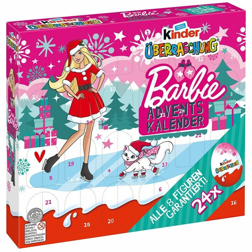 Kinder Weihnachtskalender.Kinder Berraschung Barbie Xmas Adventskalender Schokolade Eier Mdchen Spielzeug Geschenk 2016