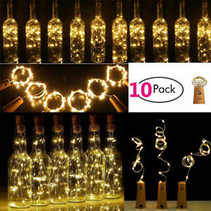10PCS-Bottle-Stopper-Fairy-String-Lights-Wine-Battery-Cork-Shaped-Party-Wedding