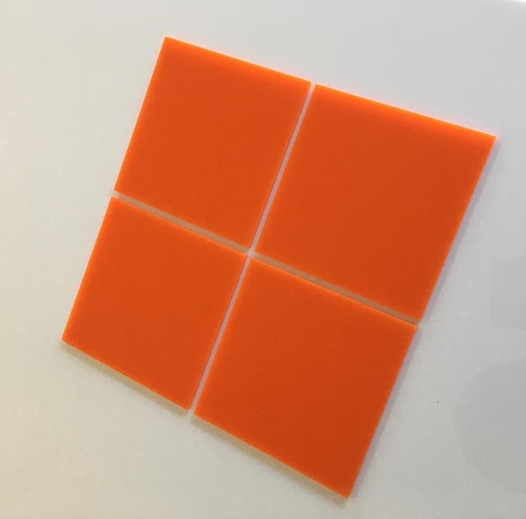Square Acrylic Wall Tiles - Orange