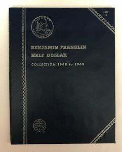 FRANKLIN-HALF-DOLLAR-1948-1963-9032-COIN-FOLDER-BY-WHITMAN-NEW-OLD-STOCK
