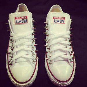 3c41bc5a8ddefa Image is loading Studded-Converse-Chuck-Taylor-All-Stars-Spiked-Custom-