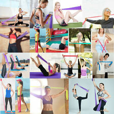 1X 1.2m Long Elastic Yoga Pilates Stretch Resistance Exercise Fitness Band Belt