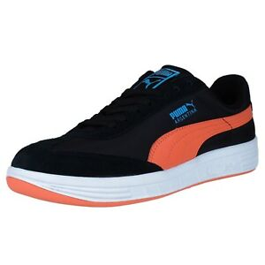 Details about PUMA THE ARGENTINA NYLON FASHION SNEAKERS BLACK ORANGE BLUE 347431 13