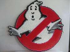 Ghost busters kandi perler necklace, rave, EDC, PLUR sprite bead melty hama art
