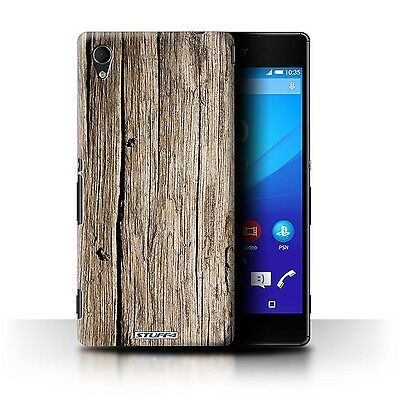Stuff4 Hülle/Case für Sony Xperia M4 Aqua/Treibholz/Holz/Holzmaserung Muster