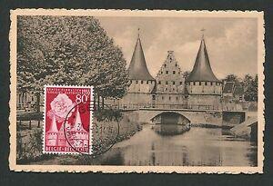 Belgique Mk 1955 Occasion Gand Maximum Carte Carte Maximum Card Mc Cm C9422