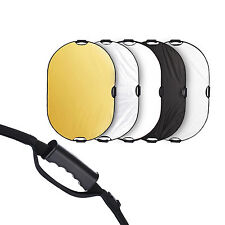 Selens 80x120cm 5in1 Light Mulit Collapsible Portable Reflector Photo Oval Panel