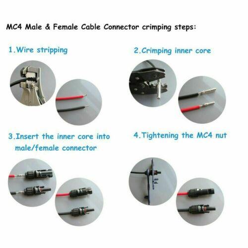Wholesale 10//20//50//100pcs M//F Wire Cable Connector Set Solar Panel Waterproof US