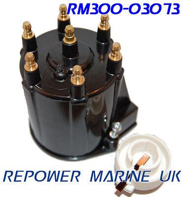 3854331 850484T 3 OMC Mercruiser V6 Distributor Cap /& Rotor Volvo Penta