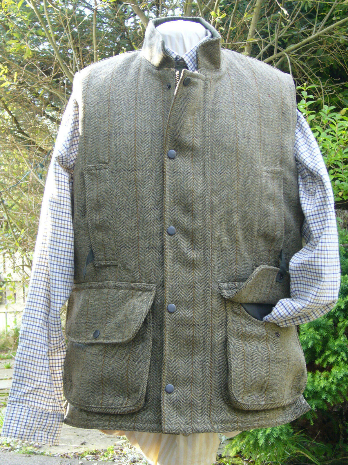 KEEPER TWEED SHOOTING VEST BNWT 4 HUNTING NEW