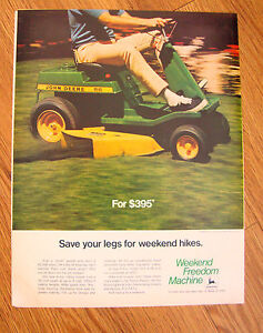 Weekend Freedom Machines >> Details About 1970 John Deere Lawn Tractor Ad Weekend Freedom Machines