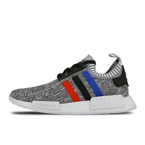 07760b930070c Men s Adidas NMD R1 Primeknit Tri Color Grey White Red Size 9.5US ...
