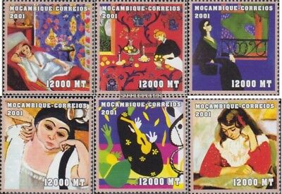 Topical Stamps Nice Mosambik 2109-2114 Unmounted Mint Never Hinged 2001 Art