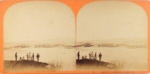 FRANCE-Marseille-Panorama-Photo-Stereo-Vintage-Albumine-ca-1865