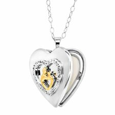 Crystaluxe Mother & Child Locket with Swarovski Crystals 18K Gold-Plated Silver
