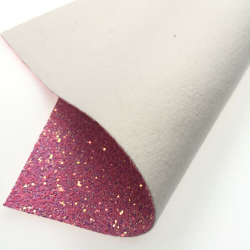 Pastel Candy Sparkle Chunky Glitter Vinyl Fabric Faux Leather Sheet Craft ZAIONE