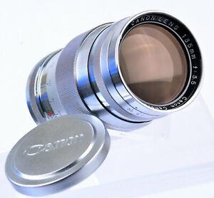 Exclnt-EP-CANON-Rangefinder-Lens-135mm-f-3-5-LTM-Leica-Mount-Case-Caps-Filter