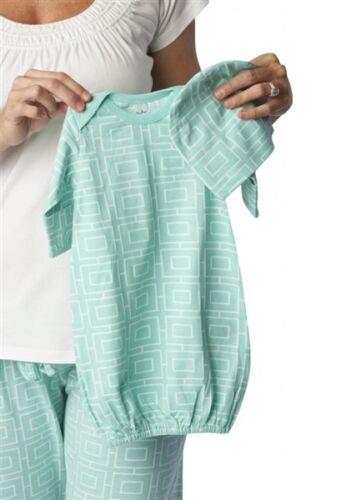 Maternity Nursing Pajamas Pregnancy and Matching Baby Romper Set