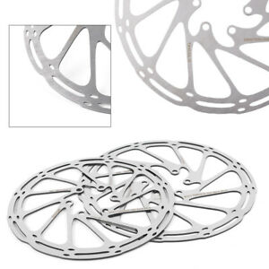 160mm//180mm Metal MTB Bike Bicycle Disc Brake Rotor Cycling Brake Pad W//6 Bolts