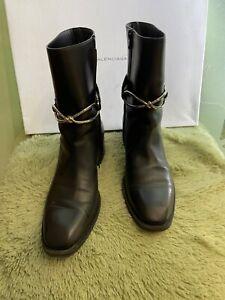 Balenciaga White Cut Out Ankle Boots EUR40 US10